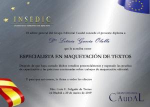 Diploma acreditativo INSEDIC