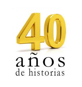 Logo 40 años Grupo Editorial Caudal